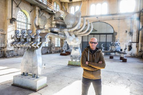 Das diesjährige Programm beendet Thomas Häusle mit Bruno Gironcoli, dessen Arbeiten noch bis 23. Februar zu sehen sind. VN/KH