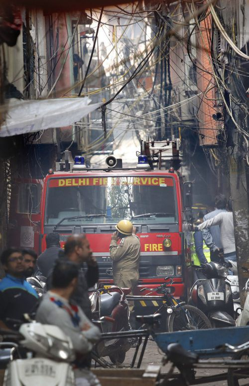 Das Feuer war in einem dicht besiedelten Viertel von Neu Delhi ausgebrochen. AP