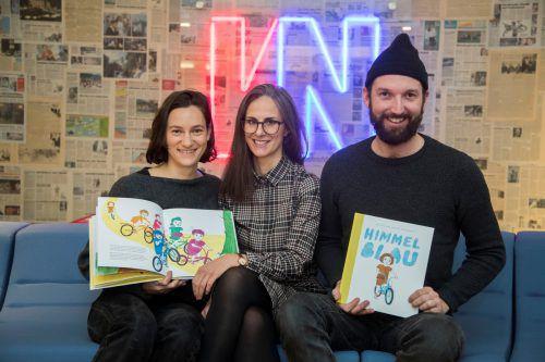 Das Himmelblau-Team: Luka Jana Berchtold, Nicole Klocker-Manser und Matthias Köb. VN/Paulitsch
