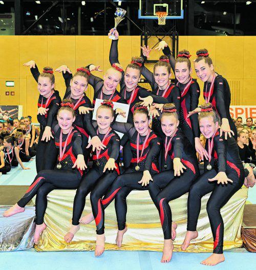 Das Meisterteam des Turnsportzentrums Dornbirn in der Eliteklasse der Frauen.Gerd Kogler