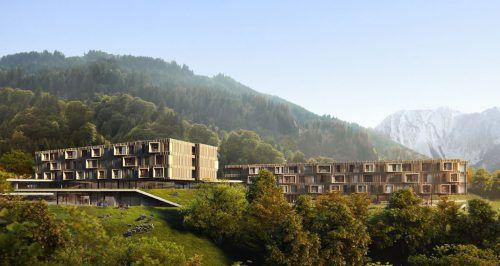 Das neue Familienhotel in Latschau wird nach den Plänen des norwegischen Architekturbüros Snøhetta errichtet.Snøhetta