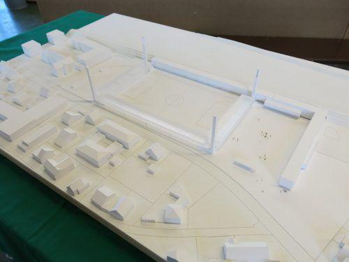 Das Siegerprojekt Planet Pure Stadion neu der Architekten Bernardo Bader und Walter Angonese wartet nun auf die Umsetzung.VN
