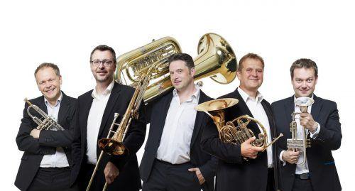 Das Sonus Brass Ensemble eröffnet am Montag den Montafoner Winterzauber mit dem Konzert in der Pfarrkirche Tschagguns. Mathies