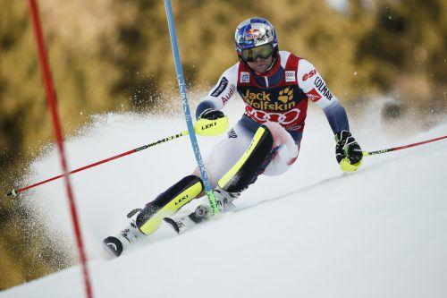 Der Franzose Alexis Pinturault fuhr im Slalom die Bestzeit und holte sich die Super-Kombination von Bormio. ap