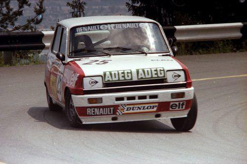 Der junge Werner Bickel beim Bergrennen am Dobratsch im Jahre 1979.Noger/2