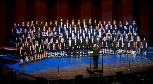 Der Landesjugendchor Voices unter der Leitung von Oskar Egle überzeugte im Kulturhaus. Beide Konzerte waren restlos ausverkauft. VN/Stiplovsek