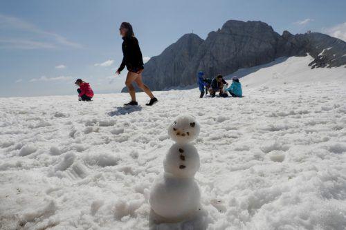 Der Sommer war für den Dachsteingletscherdeutlich zu warm.Reuters