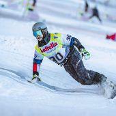 Snowboarder mit starken Auftakt