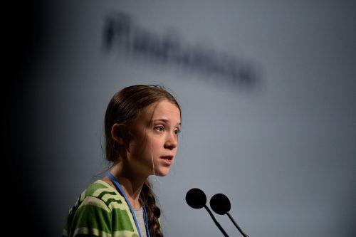 Die Aktivistin warf den Regierungen Untätigkeit vor. AFP