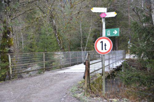 Die Aubrücke beim Radweg in Innerbraz wird im kommenden Jahr erneuert. DOB