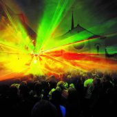 Silvester mit Lasershow