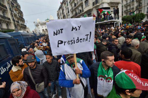 Die Freitagsproteste in Algerien dürften weitergehen. AFP