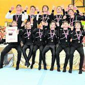 """<p class=""""caption"""">Die Junioren der Turnerschaft Wolfurt jubelten über die goldene Auszeichnung.Gerd Kogler</p>"""