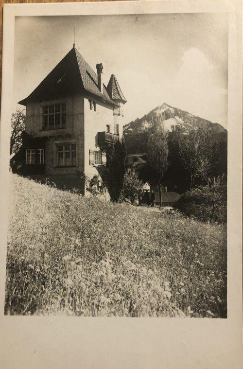"""Die """"Pinselburg"""" des """"Blaumalers Luger"""" um 1928."""
