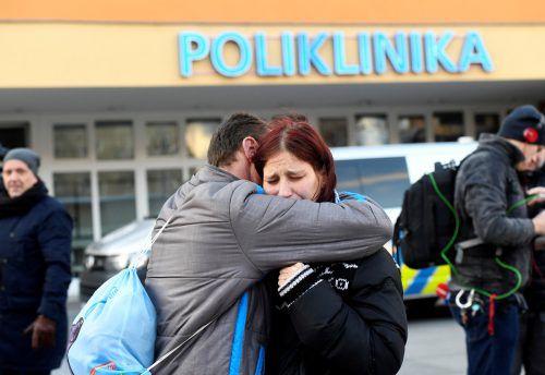 Dramatische Szenen spielten sich in der Universitätsklinik in Ostrava ab. Reuters