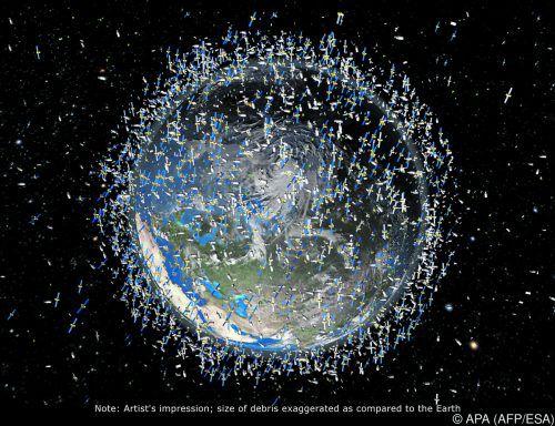 Experten warnen vor einer drastischen Zunahme des Weltraumschrotts. APA