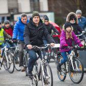 Protest der Radfahrer