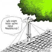 Grüner Rauch aus derKoalitions-kapelle!