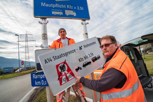 Der Autobahnabschnitt von der deutschen Grenze bis nach Hohenems bleibt wohl von der Vignettenpflicht befreit. VN/Stiplovsek