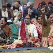 Massenproteste in Indien