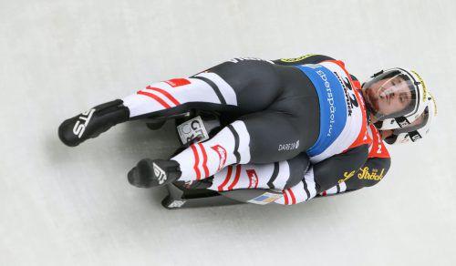 Der Bludenzer Thomas Steu raste mit seinem Partner Lorenz Koller bei der Kunsteisbahn-EM in Lillehammer zu zwei Silbermedaillen.gepa