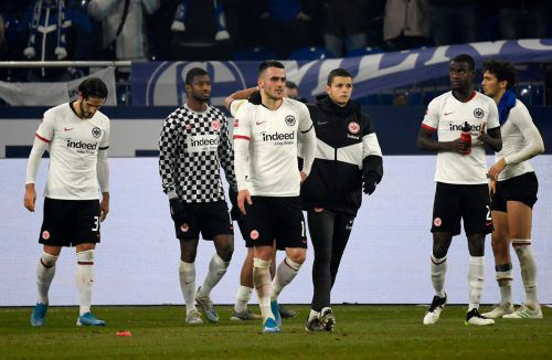 Für Frankfurts Spieler endete das Fußballjahr mit einer Niederlage in Paderborn.afp