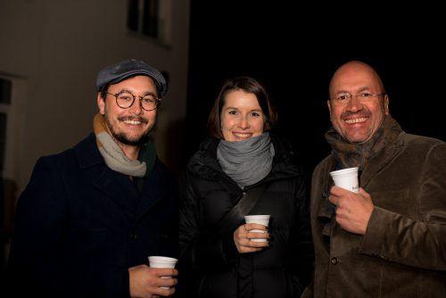 Gerald Frick, Sophie Renner und Bernie Weber (Weber Mathis und Freunde).