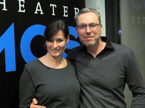Im Publikum: Schauspielerin Sabine Lorenz und Michael Neumann.