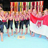 """<p class=""""caption"""">In der Jugend-3-Klasse waren Mädchen des Turnsportzentrums Dornbirn die Nummer eins.Gerd Kogler</p>"""