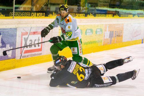 In einer sehr kampfbetonten letzten Partie gegen Pustertal behielt Lustenau mit 2:1 die Oberhand.VN/STIPLOVSEK