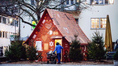 In Feldkirch findet das Kinderprogramm im Lebkuchenhaus statt.