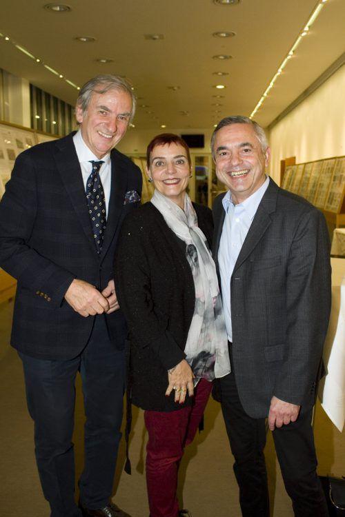 Irakli Gogibedaschwili (l.) sowie Ruth und Horatiu Pilsan.
