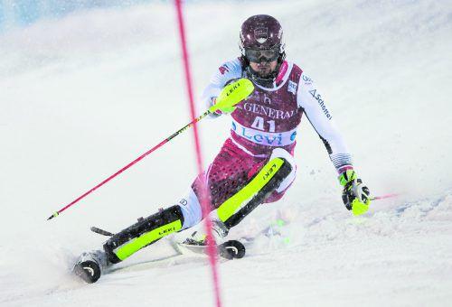 Johannes Strolz ist in Val d'Isére im Slalom und im Riesentorlauf am Start.gepa