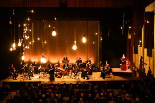 Konzert mit Martina Gedeck, Dorothee Mields und dem Concerto Köln in Feldkirch. Die nächste Zwischentöne-Reihe beginnt am 3. Februar. Zwischentöne/M. Rhomberg