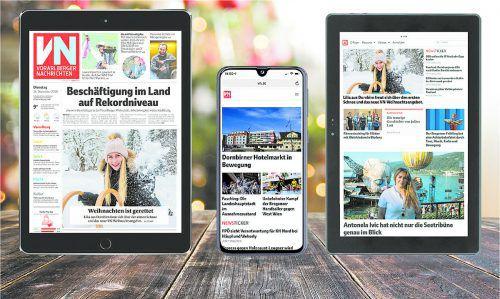Lesen Sie zu Weihnachten die VN-Digital (E-Paper und VN.at) auf Ihrem neuen Tablet oder Smartphone: Sie haben die Wahl zwischen drei Geräten.VN