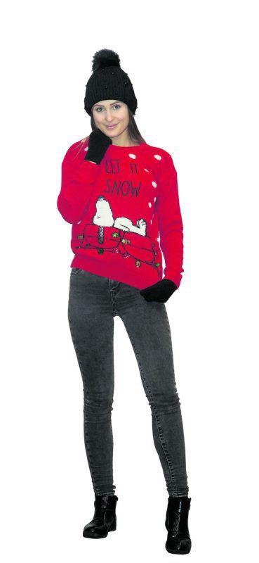 Let it Snow             Lisa (21) aus Dalaas trägt ein Outfit von C&A in Dornbirn: Weihnachtspullover (14,90 Euro), Mütze (9,90 Euro) und Handschuhe (Doppelpack, 1,90 Euro).               VN/Steurer