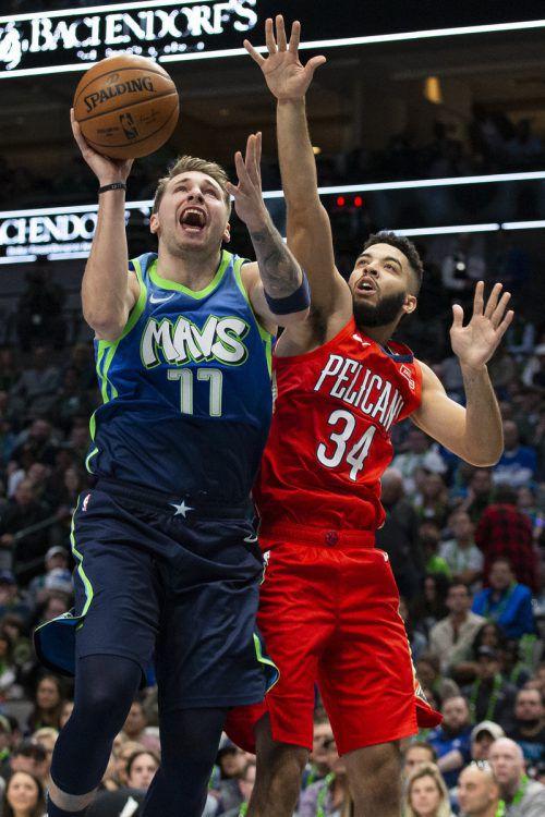 Luka Doncic von den Dallas Mavericks ist aktuell das Maß aller Dinge in der NBA.AP