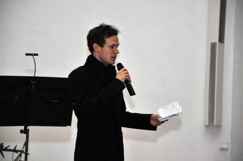 Lukas Hirzberger führte durch das Programm.