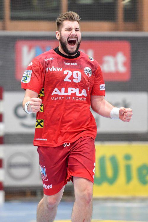 Lukas Schweighofer hat im Hard-Trikot noch nie gegen Graz verloren.gepa