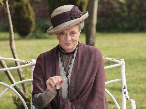 """Maggie Smith hält nichts von ihrer Berühmtheit - bis zu ihrer Rolle als Lady Violet Crawley in """"Downton Abbey"""" habe sie ein völlig normales Leben geführt. AP"""