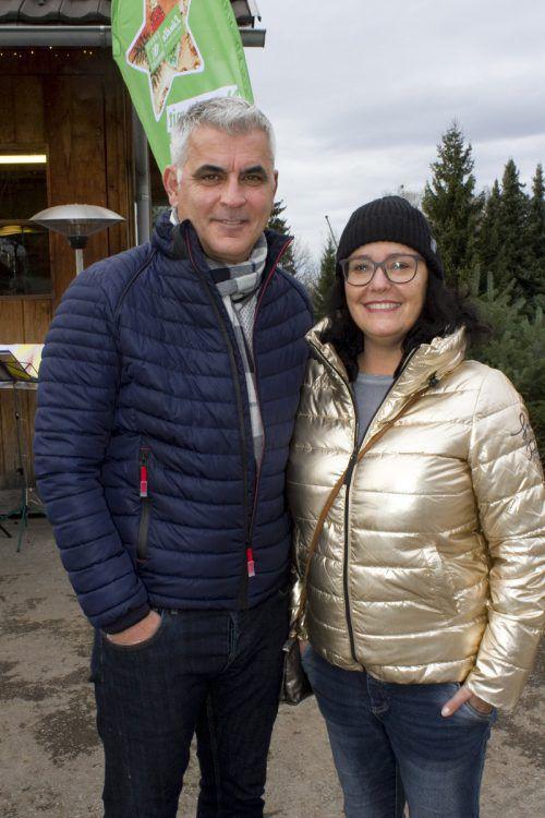 Markus und Benedicte Hämmerle stimmten sich auf Weihnachten ein.
