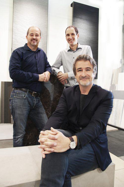 Martin Winder mitAndreas Winder sowie Florian Marent. S+Tile