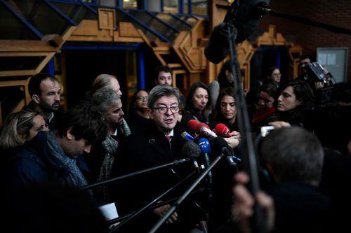 """Mélenchon sprach von einem""""politischen Prozess"""". AFP"""