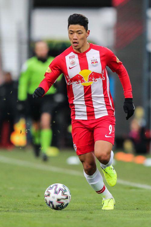 Mit Hee-Chan Hwang soll der nächste Salzburger nach England wechseln.gepa