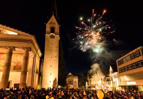 Mit viel Stimmung wird beim Kindersilvester in Dornbirn das neue Jahr eingeläutet. Rhomberg/DB Tourismus