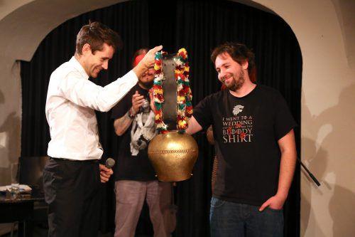 Neben der Qualifikation für die österreichische Meisterschaft gab es für Gewinner Ivica Mijajlovic auch eine Kuhglocke als Trophäe. uysal
