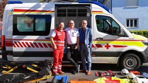 Neue Rettungswagen wiegen über 3,5 Tonnen. Gelenkt werden dürfen sie nur mit einer Genehmigung oder dem Lkw-Schein. VN/Lerch