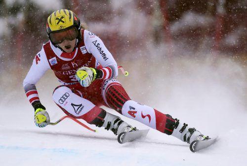 Nina Ortlieb fuhr in Lake Louise mit Rang vier ihr bestes Weltcupresultat heraus. ap