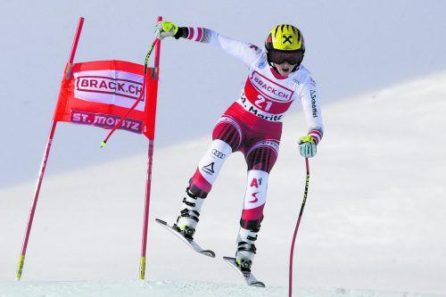 Nina Ortlieb war im Super-G auf Platz sechs zweitbeste ÖSV-Läuferin.ap