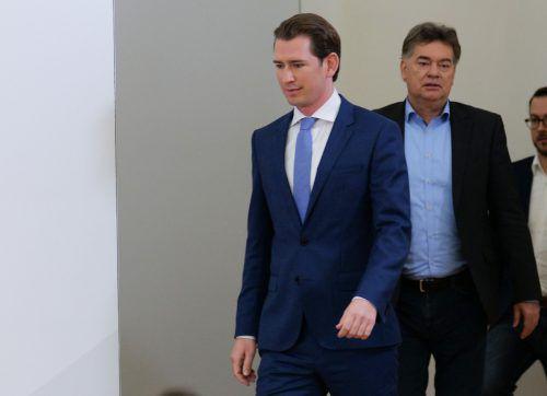 ÖVP-Chef Kurz und Grünen-Chef Kogler melden sichheute zu Wort.AFP